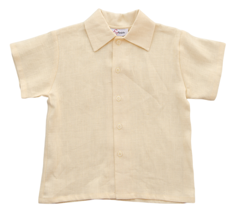 Jack and Teddy Yellow Linen Dress Shirt - Baby/Toddler Boy