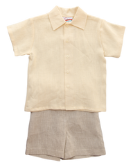 Jack and Teddy Yellow Linen Dress Shirt