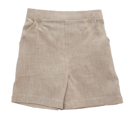 Jack and Teddy Khaki Linen Shorts - Kids on King