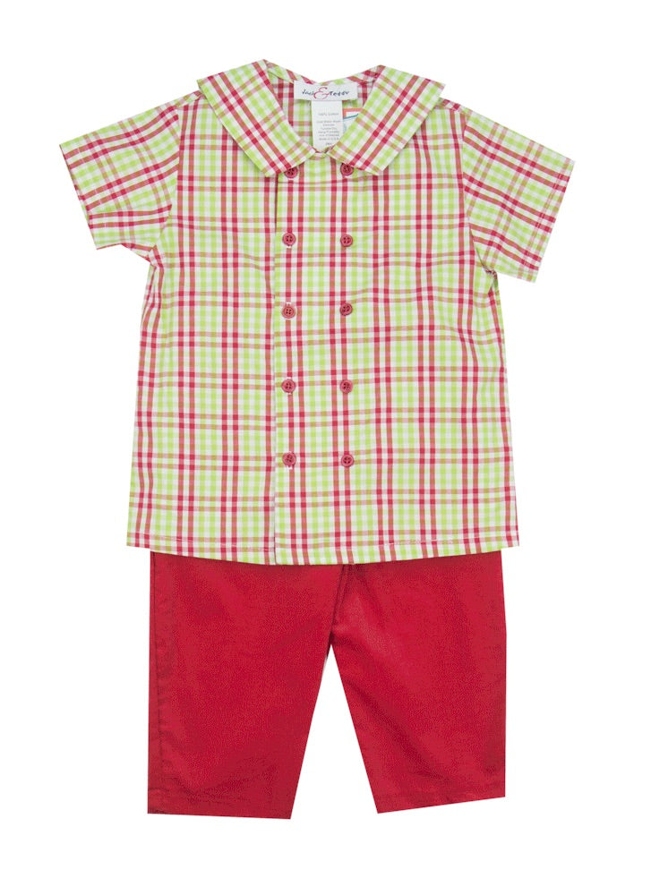 Jack & Teddy Two Piece Holiday Pant Set