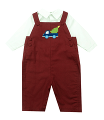 Petit Ami Two Piece Holiday Applique Longall