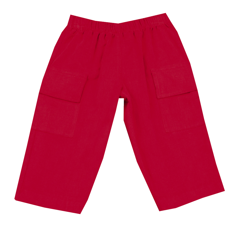 Monday's Child by Vive La Fete Red Corduroy Pull On Pants - Baby/Toddler/Boy