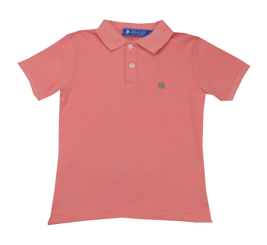 The Bailey Boys Salmon Polo Shirt - Toddler Boy/Boy