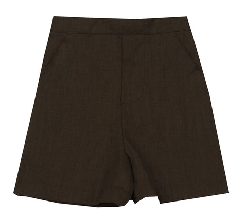 Jack & Teddy Brown Linen Shorts - Baby Boy/Toddler Boy/Boy