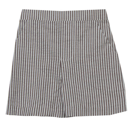 Jack & Teddy Brown Striped Shorts - Baby/Toddler/Boy