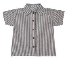 Jack & Teddy Brown Seersucker Shirt