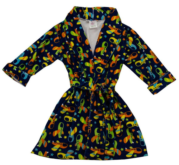 Funtasia Too Airplane Print Robe - Kids on King