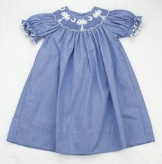 Kids on King Exclusive Design South Carolina Smocked Bishop - Girl