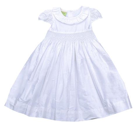 Le' Za Me Silk Smocked Dress - Toddler/Girl/Pre-teen Girl