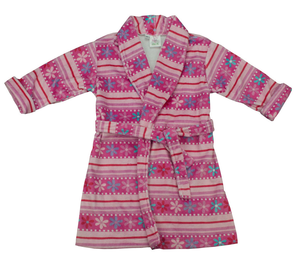 Juju and Jack  Flowers Robe - Toddler Girl