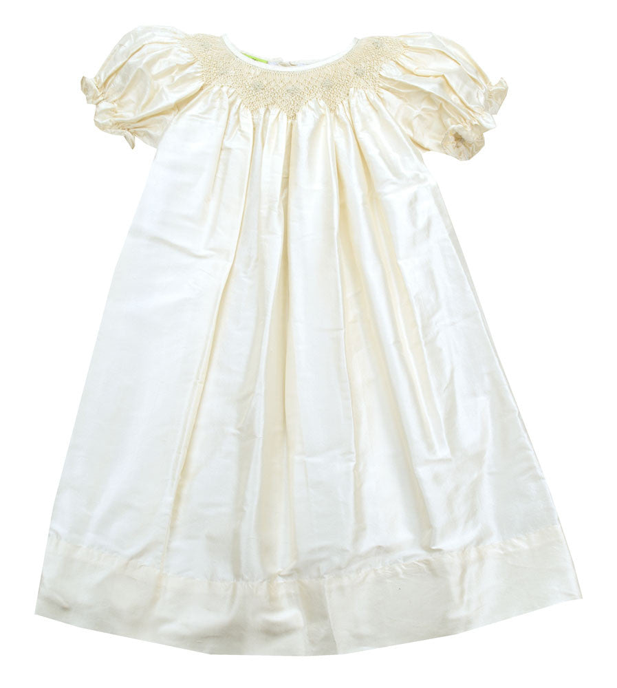 Le' Za Me Silk Smocked Bishop Dress - Baby/Toddler/Girl/Pre-teen Girl