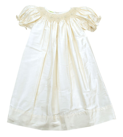 Le' Za Me Ivory Silk Smocked Bishop Dress - Baby/Toddler/Girl/Pre-teen Girl