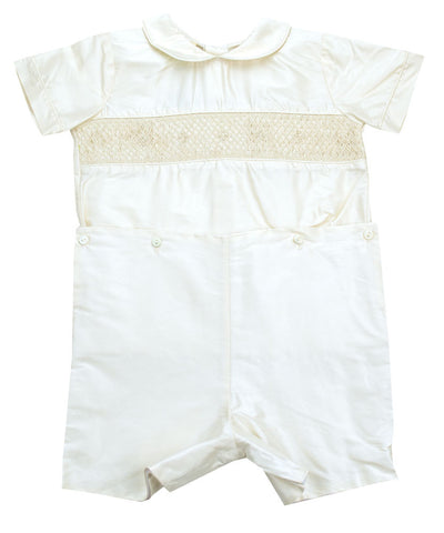 Le' Ze Me Smocked Silk Button Waist - Baby/Toddler Boy