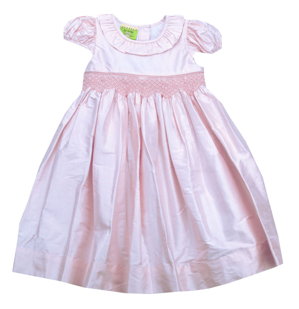 Le' Za Me Silk Smocked Bodice Dress - Toddler/Girl/Pre-teen Girl