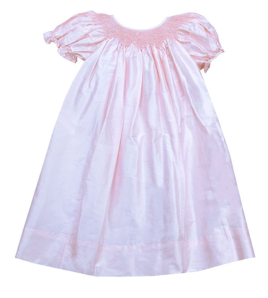 Le' Za Me Silk Smocked Bishop Dress - Kids on King