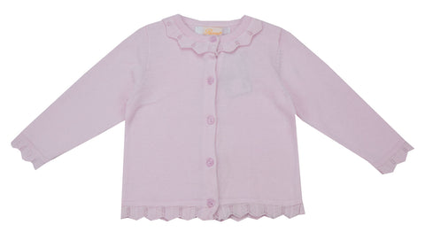 Petit Ami Pale Pink Cardigan - Baby Girl/Toddler Girl