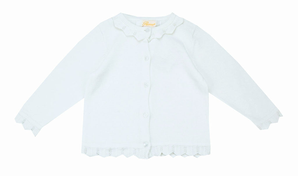 Petit Ami White Cardigan - Baby Girl/Toddler Girl