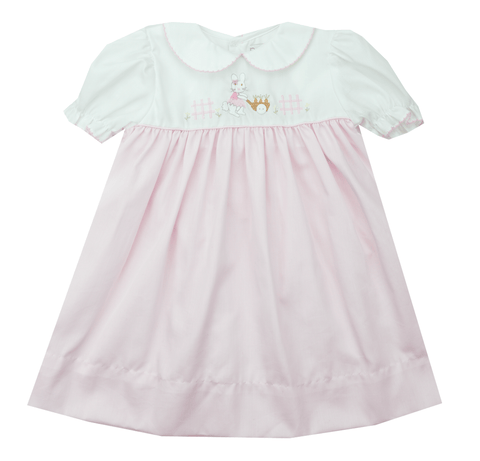Petit Ami Embroidered Bunny Dress