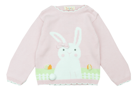 Zubels Pink Bunny Sweater