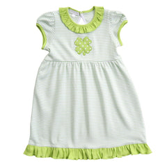 Magnolia Polka Dot Shamrock Appliqué Playsuit