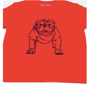 Mustard & Ketchup Kids Game Day Bulldog Shirt