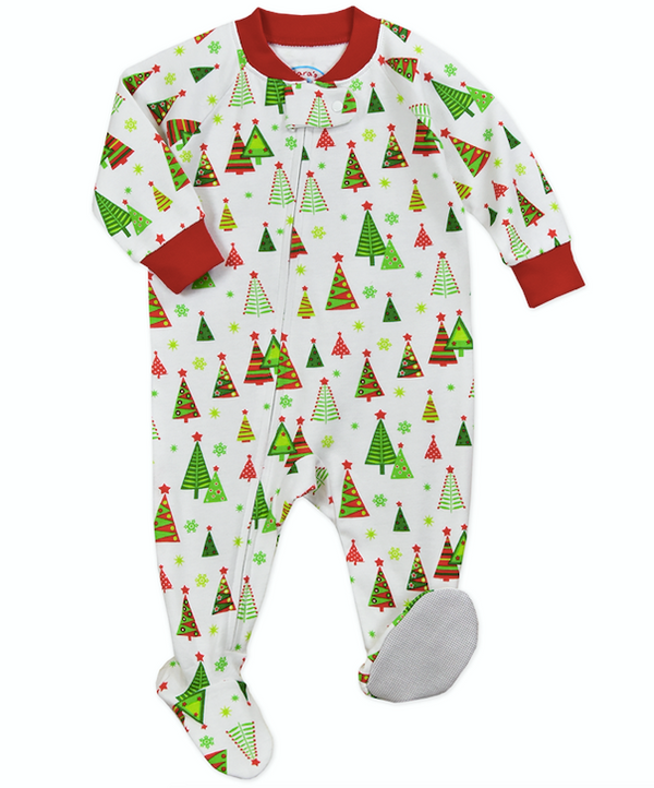 Sara's Prints- Christmas Tree Footed Pajamas