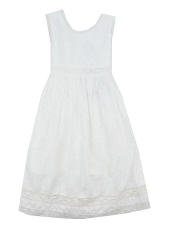 Cotton Kids White Eyelet Dress- Toddler/Girl