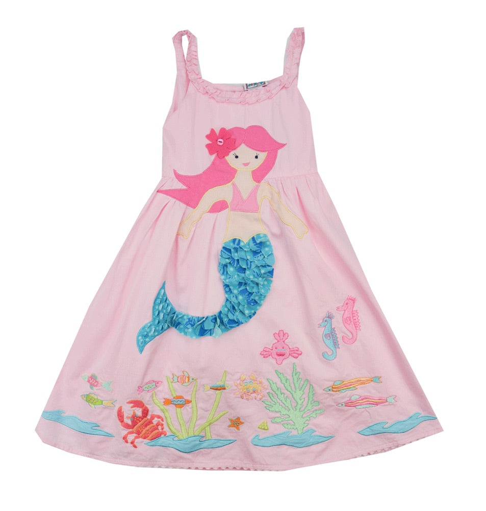 Cotton Kids Mermaid Dress- Toddler/Girl