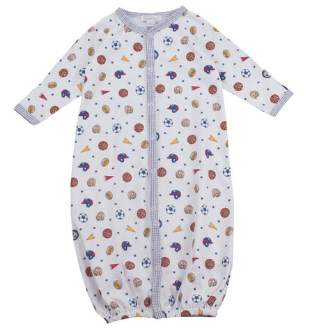 Kissy Kissy Sports Print Converter Gown - Baby Boy