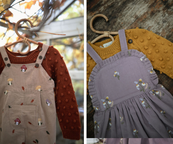 Corduroy collection of kids and baby clothes