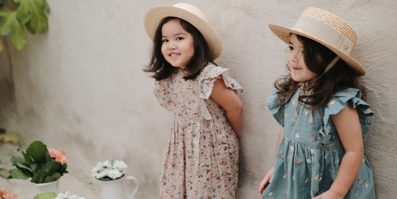 Kids cotton dresses for spring and summer