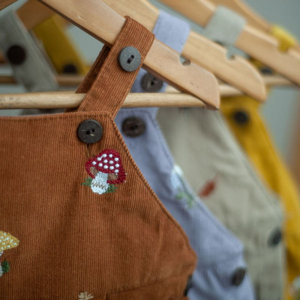 corduroy jumpsuit for kids with embroideries
