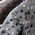 shoulder detail pic of the bubble cardigan disco boy