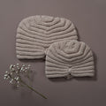 hand knitted hat in our dreamy soft merino wool mama size and baby size together