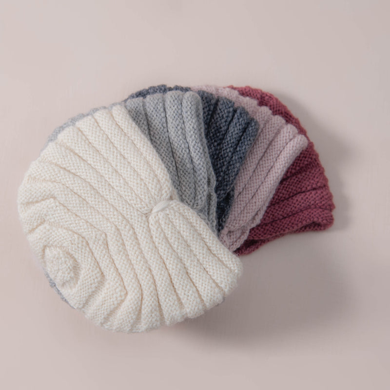 hand knitted hat in our dreamy soft merino wool in different color