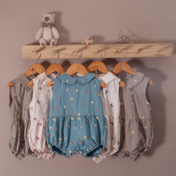 various romper along with uniqua romper taupe with flower and taupe with lemon
