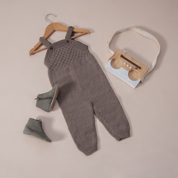 Smock jumpsuit Nutty Brown