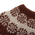 Detail picture of frost design on hand knitted sweater