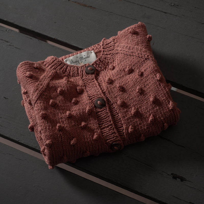 Bubble Cardigan Rosé (Cotton)