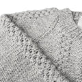 Detail picture of hand knitted cardigan
