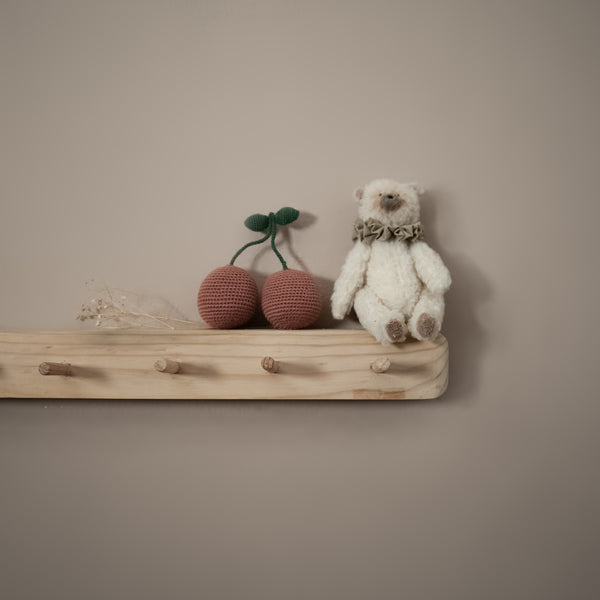 cotton cherry shelf decor
