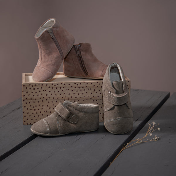 Petit Nord indoor shoes with zipper Dusty Rose