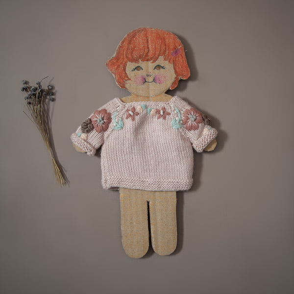 pink knitted sweater for dolls