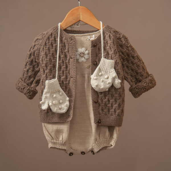 Smock cardigan Nutty Brown
