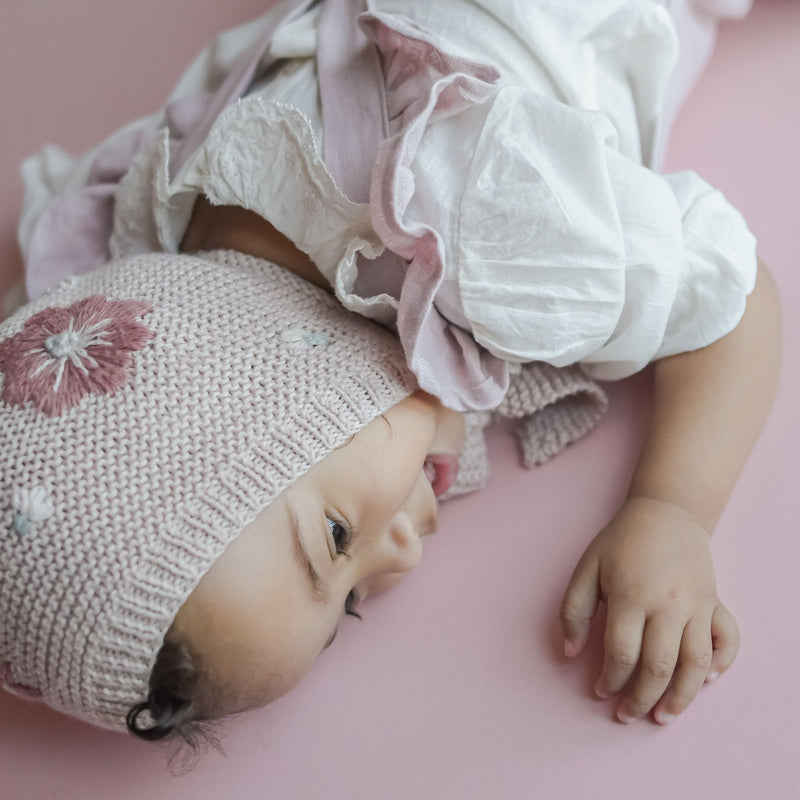 Flora bonnet Dusty Pink (Cotton)