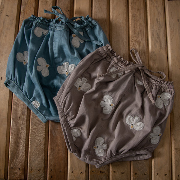 Uniqua bloomers Duck Blue with bird badge