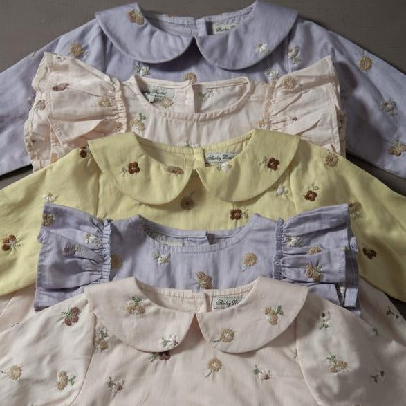 embroidered clotton rompers and dresses for kids and babies