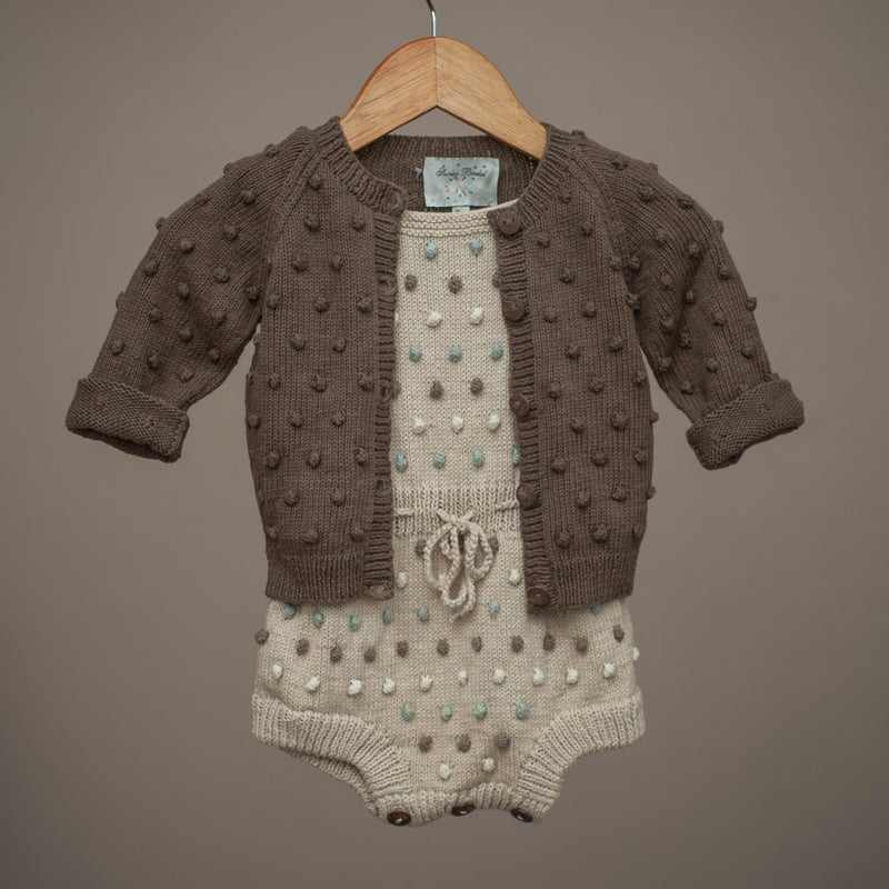 Bubble Cardigan Nutty Brown, baby (Cotton)