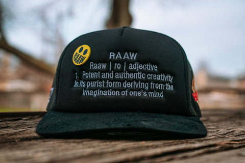 Raaw Trucker w/ Custom Pin
