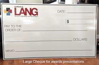 Large Cheque for awards presentations